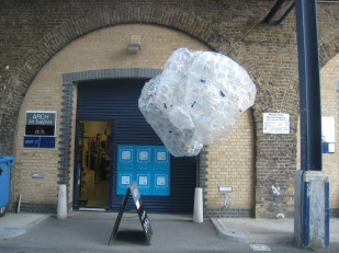 Untitled (2011) installation at Arch Gallery for Deptford X